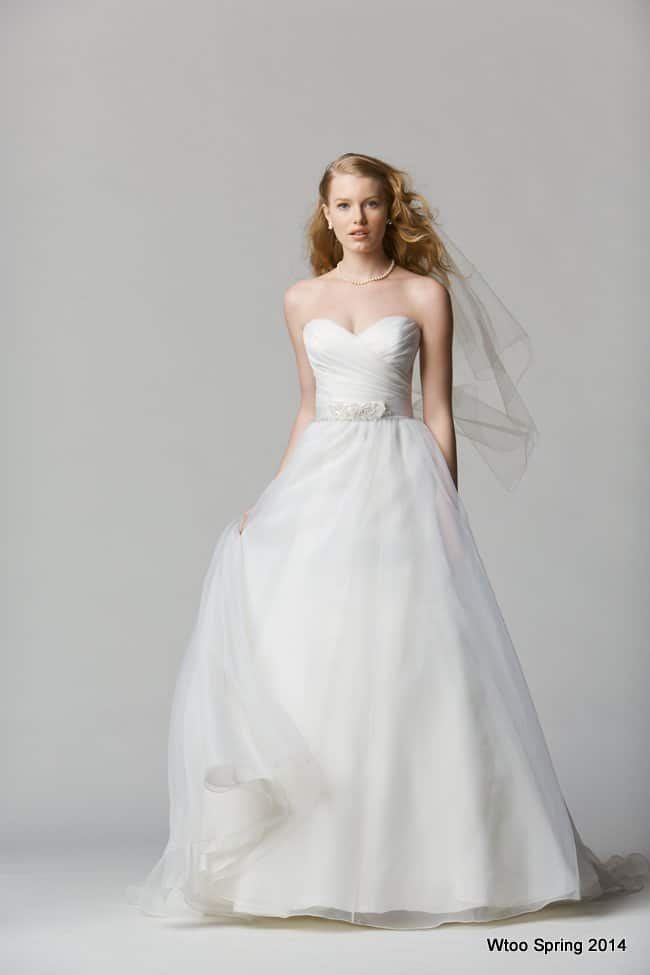 strapless wedding dress with belt