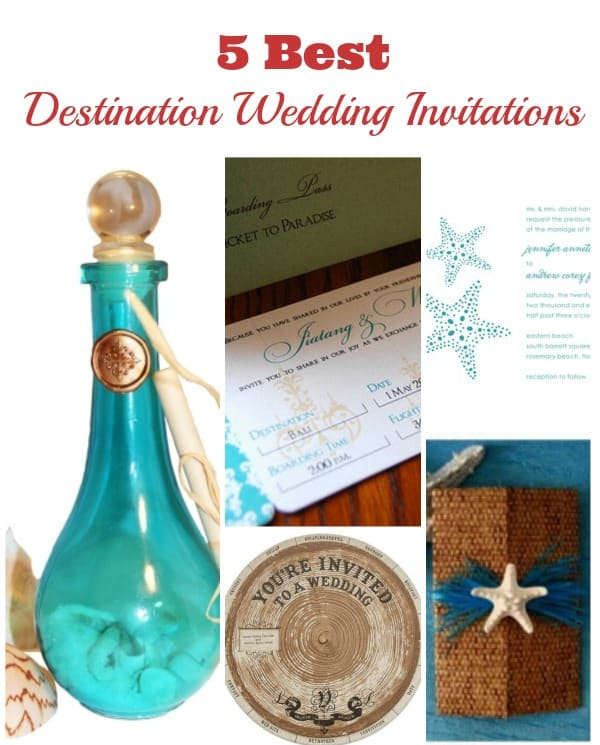 5 best destination wedding invitations
