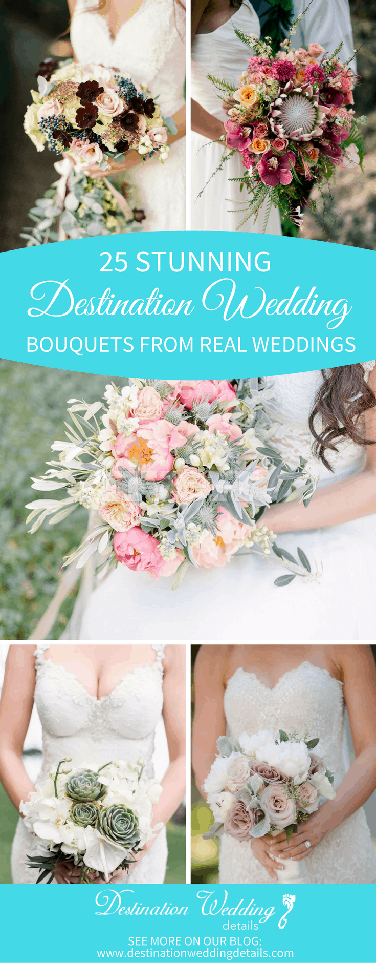 best destination wedding bouquets from real weddings