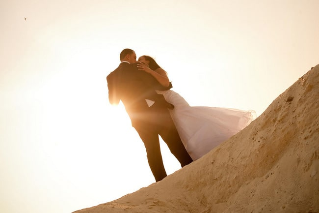 Cancun destination wedding trash the dress