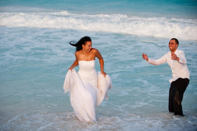 fun Trash the dress photos