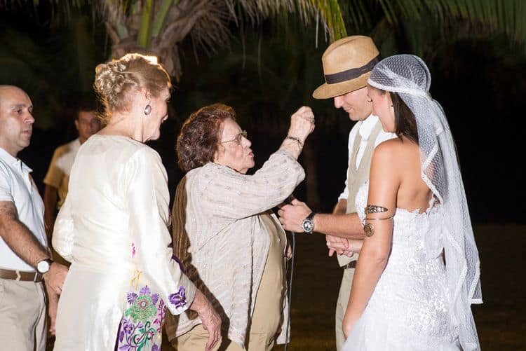 Blessing given by the bride and groom's grandmothers
