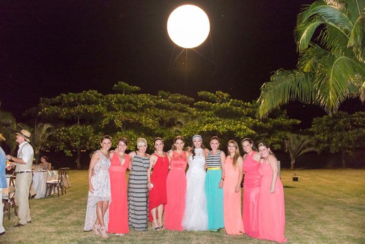 This gigantic balloon simulating the moon at this Costa Rica wedding was so cool.