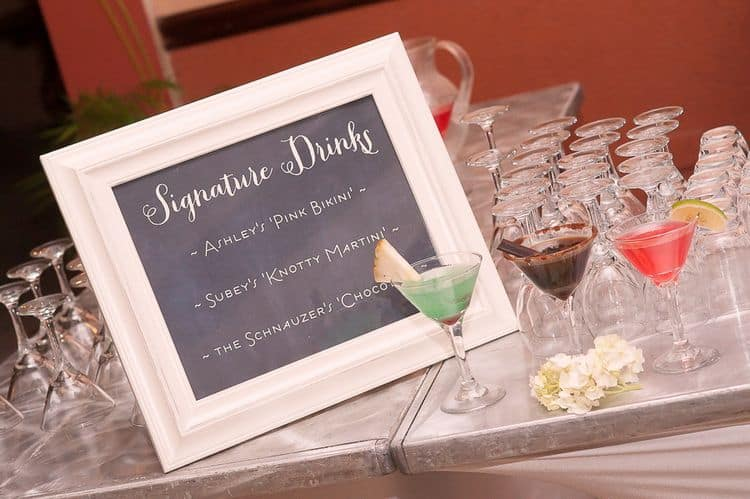 signature drinks wedding sign