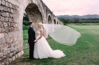 A Destination Wedding in Montego Bay with Ancient Ruins as the Backdrop