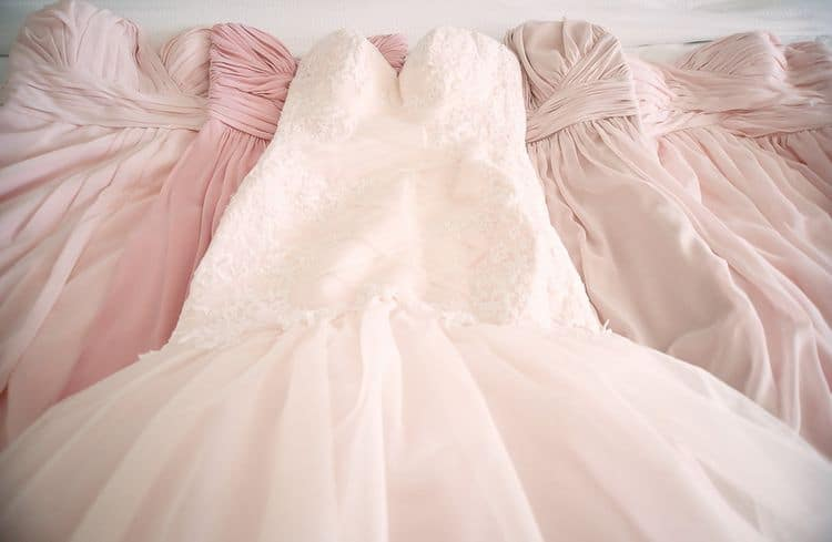 Blush destination wedding gown