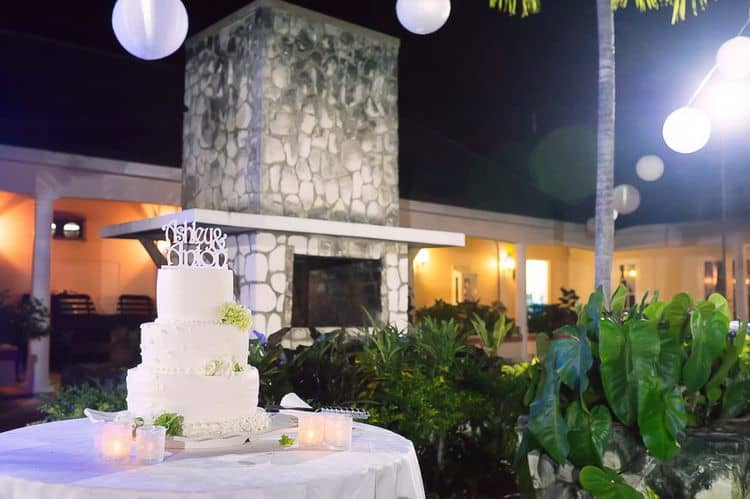 Destination wedding at the Hilton Rose Hall in Montego Bay