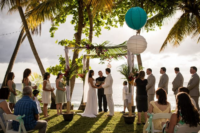 naturally beautiful wedding in puerto rico destination