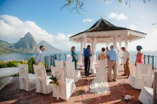 A Destination Wedding in St. Lucia with Stunning Views of The Piton Mountains