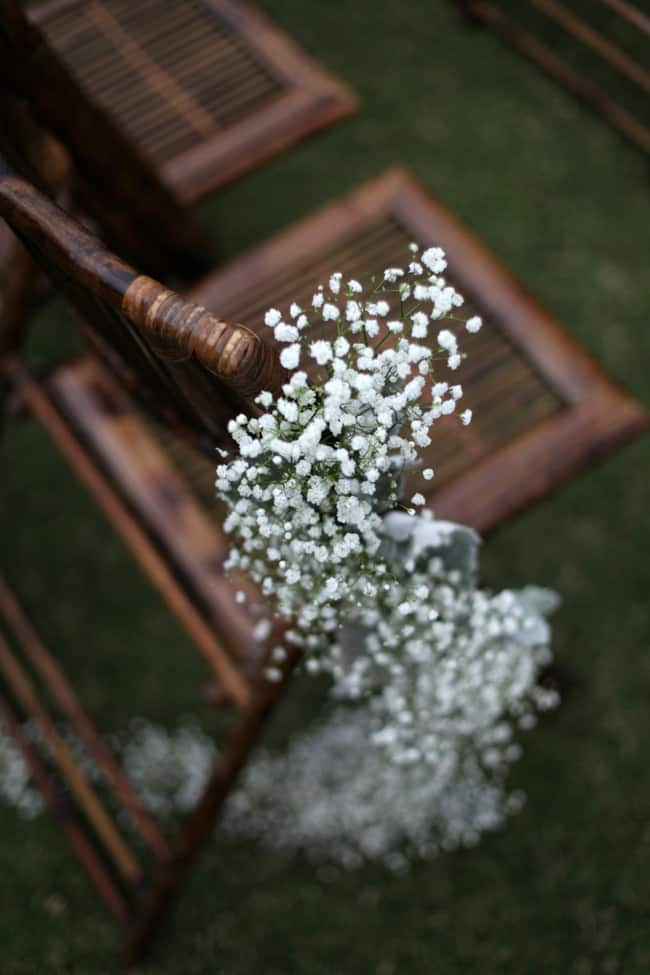 Gorgeous baby's breath wedding decorations