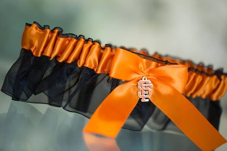 San Francisco Giants wedding garter