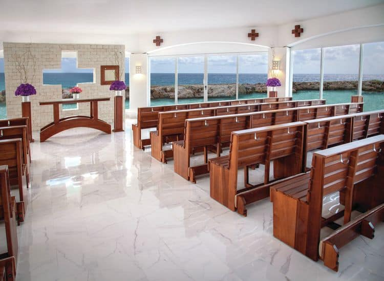 Hard Rock Riviera Maya Wedding catholic chapel