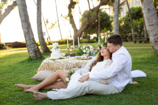Elegant Sunset Wedding at Hilton Hawaiian Villiage