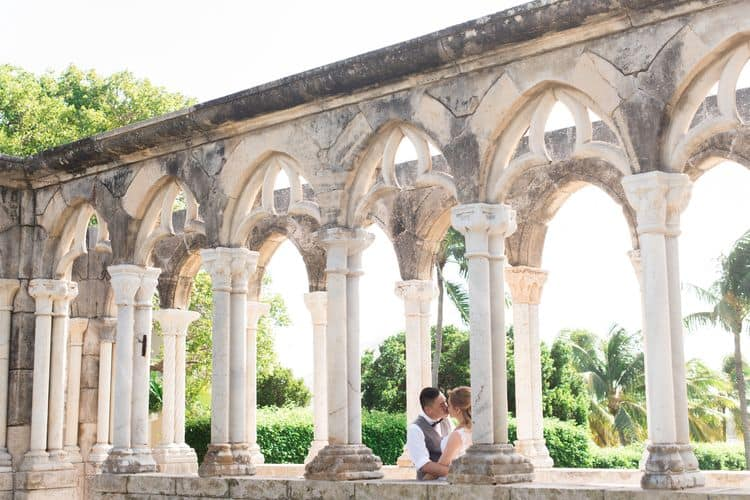 Intimate destination wedding at the French Cloister of The One and Only Ocean Club