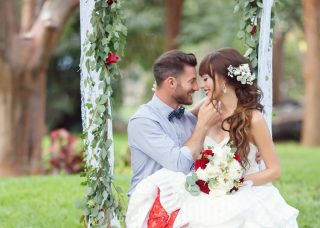 Red, White & Blue Wedding Inspiration at the Key Largo Lighthouse Beach
