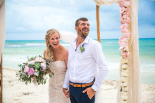 Beach Boho Playa Del Carmen Destination Wedding