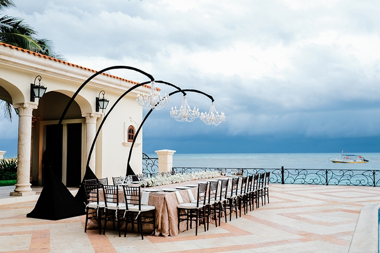 Private Oceanside destination wedding in riviera maya 1