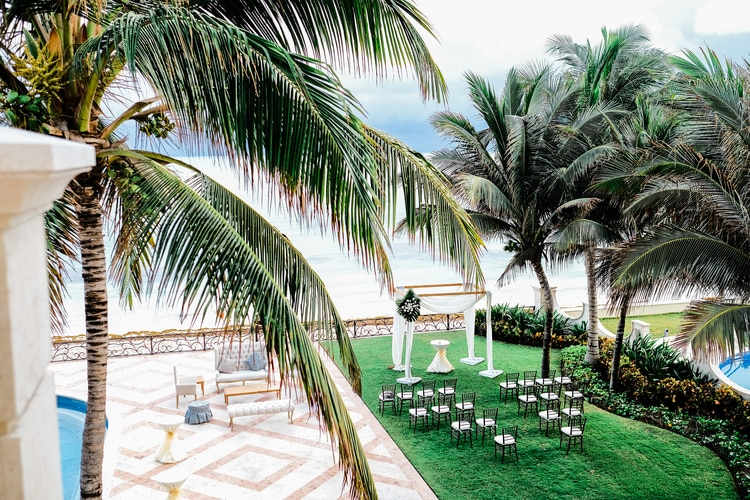 Private Oceanside destination wedding in riviera maya 175