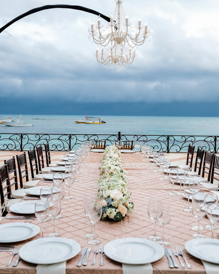 Private Oceanside destination wedding in riviera maya 24