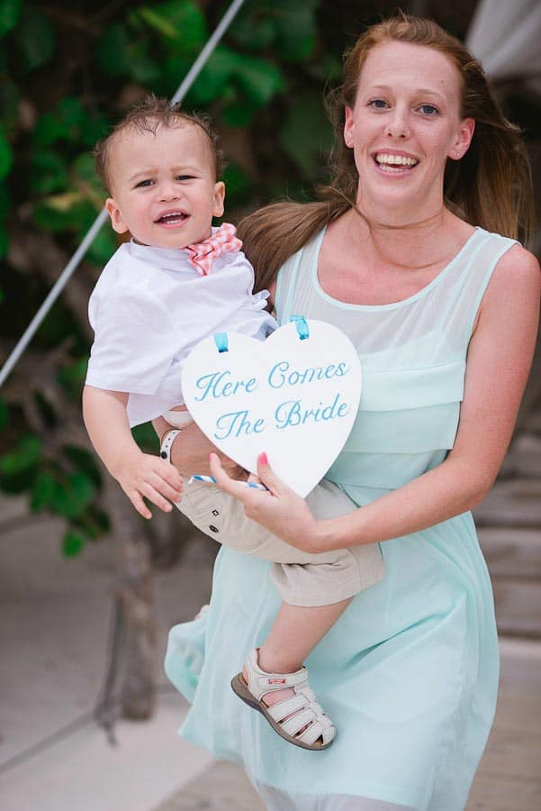 """beach wedding sign - """"Here comes the bride"""""""