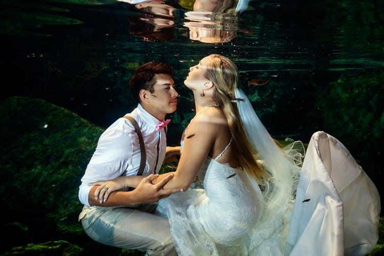 Riviera Maya Underwater Trash the Dress Photos-011