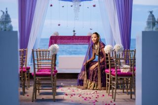 Cliffside Hindu Destination Wedding Inspiration in Jamaica