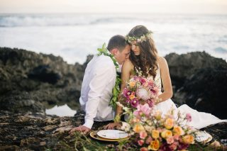 Tropical Beach Wedding Inspiration in Makaha, Hawaii
