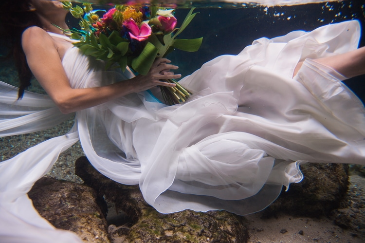 Underwater Wedding Photography 1