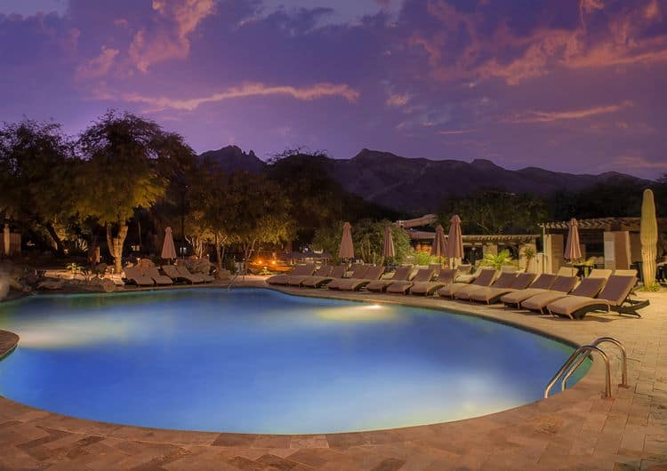 Westin La Paloma - Pool after Sunset
