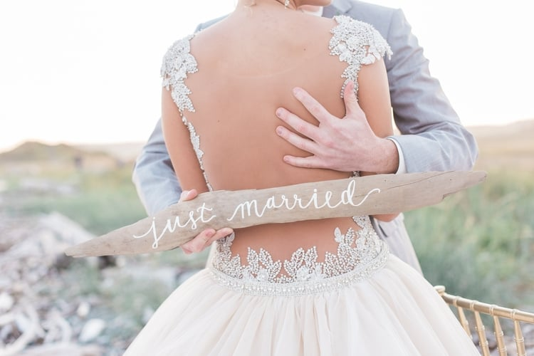 blush sunset wedding inspiration