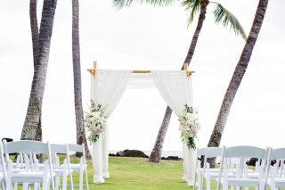 A Gorgeous White Orchid Beach House Wedding in Maui