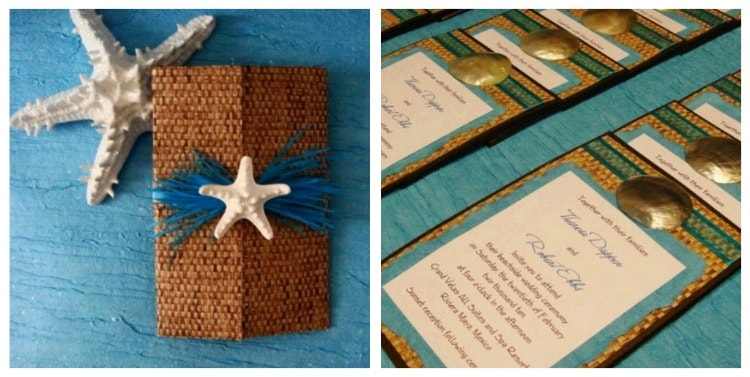 Beach Theme Wedding Invitations Destination Wedding Details