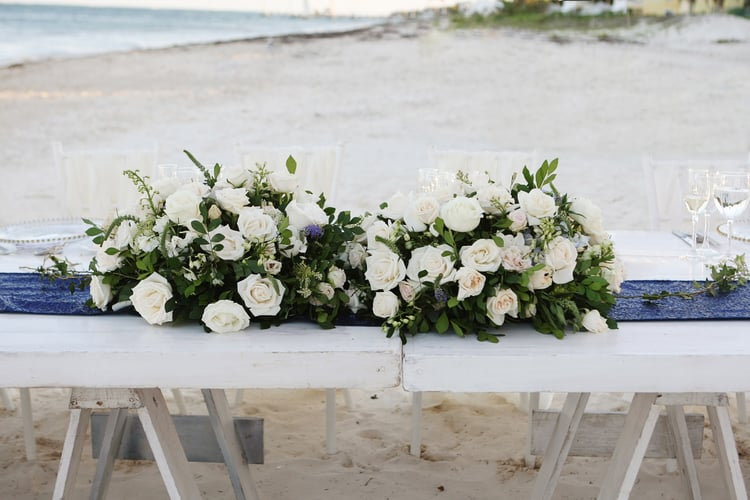 barefoot beach wedding in cancun 35