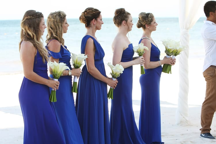 barefoot beach wedding in cancun 80