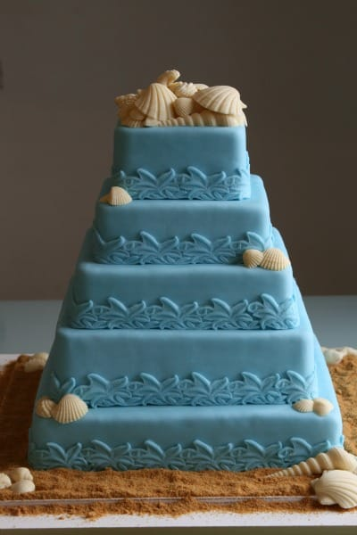 Beach Theme Wedding Cakes