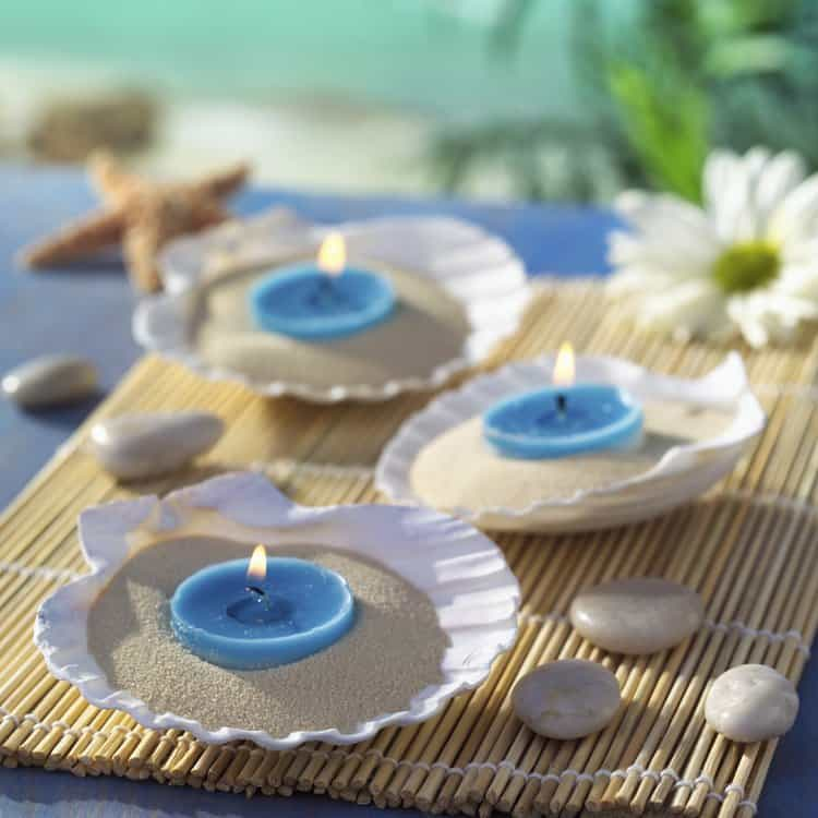 Top 31 beach theme wedding centerpieces ideas table decorating ideas stunning sea shell wedding table centerpiece seashells pasted on jar junglespirit Gallery