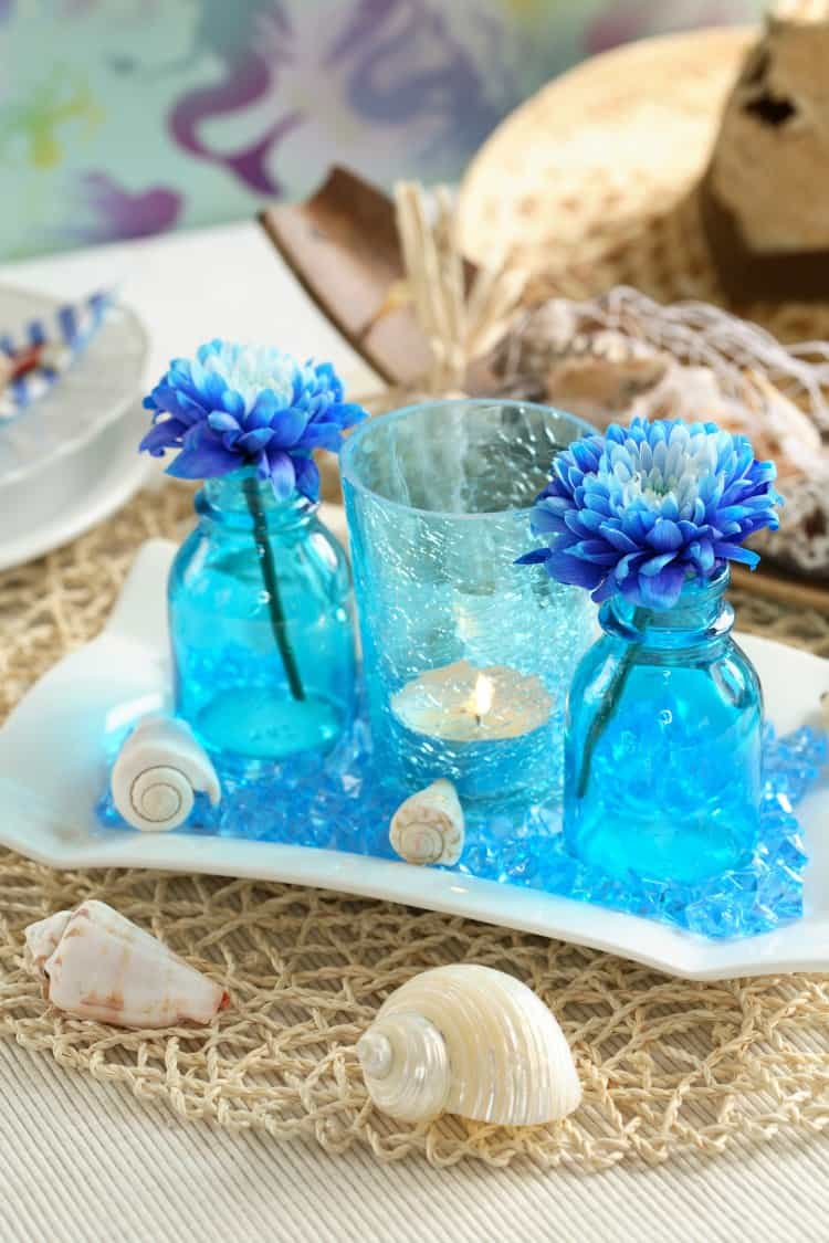 Beach theme wedding centerpieces destination wedding details beach theme wedding centerpieces junglespirit Image collections