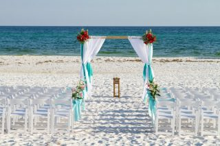 Gorgeous Beach Wedding Arch Decoration Ideas