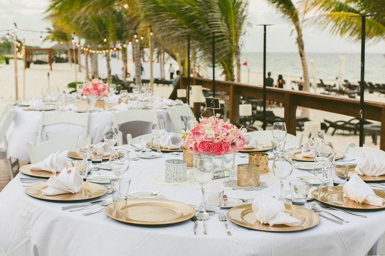 beach wedding at Royalton Riviera Cancun 130