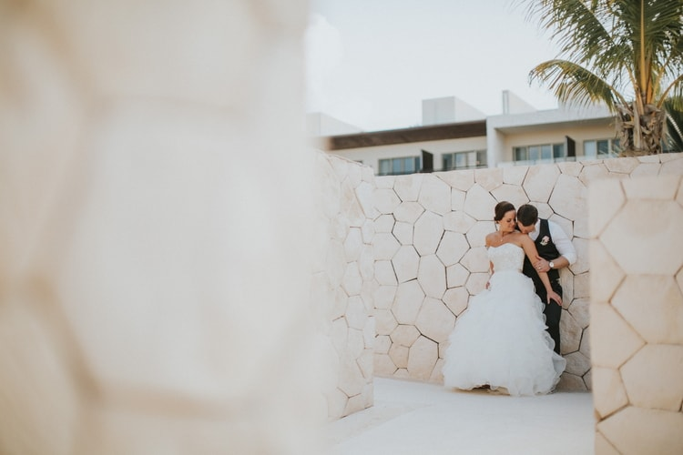 beach wedding at Royalton Riviera Cancun 160