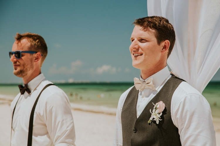 beach wedding at Royalton Riviera Cancun 189