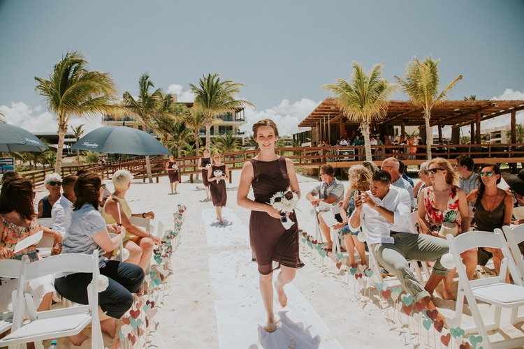 beach wedding at Royalton Riviera Cancun 190