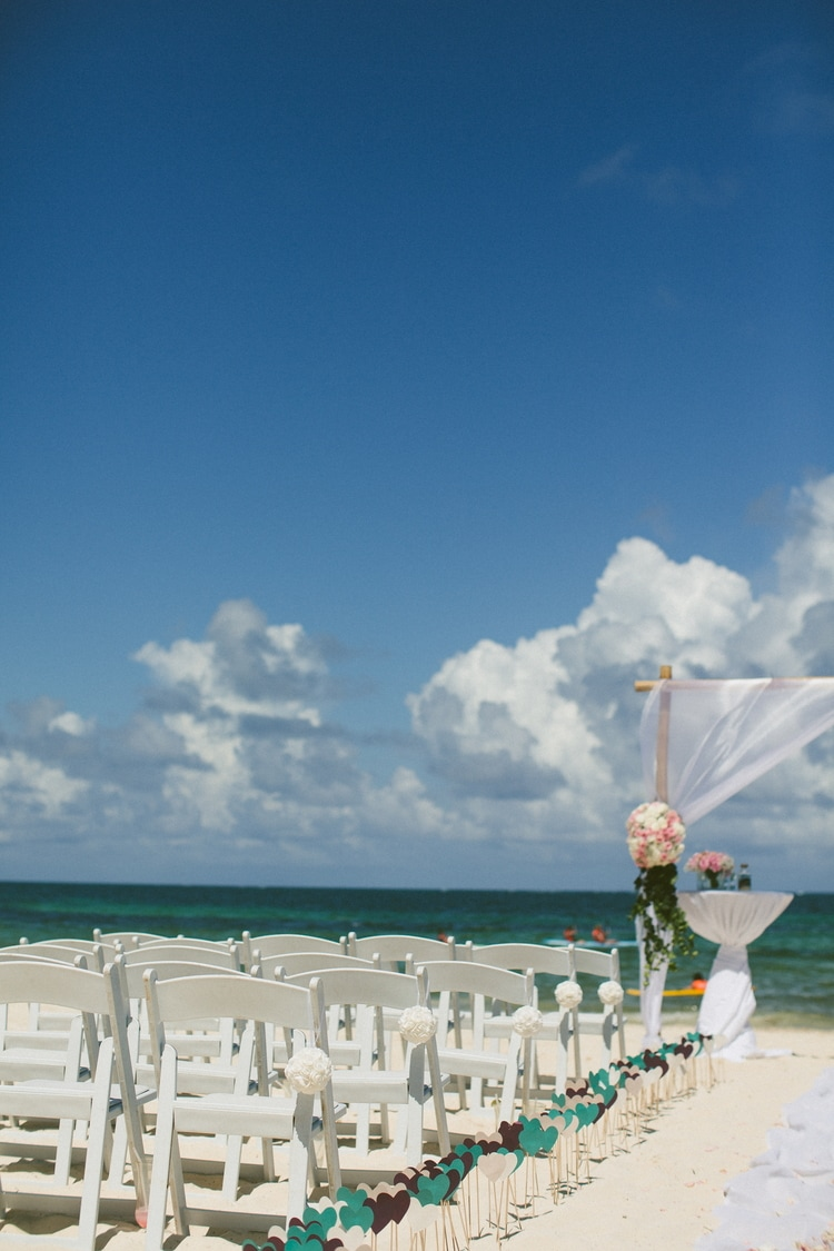 beach wedding at Royalton Riviera Cancun 199