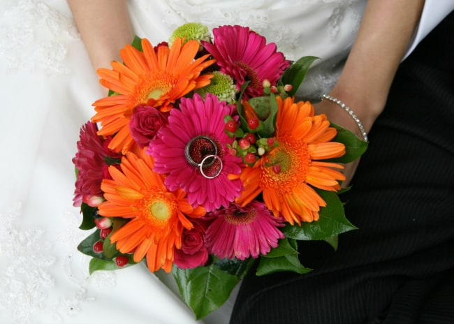 beach wedding bouquets Gerbera Daisies