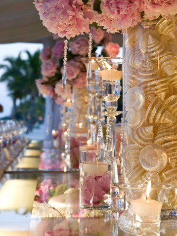 beach-wedding-centerpieces-pink