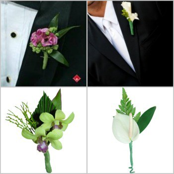beach wedding flowers for boutonnieres