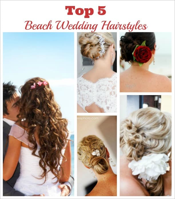 5 best beach wedding hairstyles