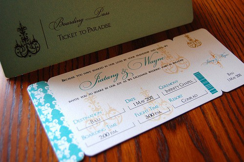 best destination wedding invitations - #2
