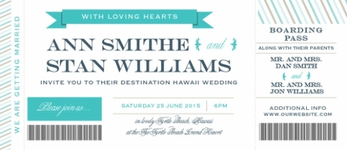 boarding pass destination wedding invitation 1