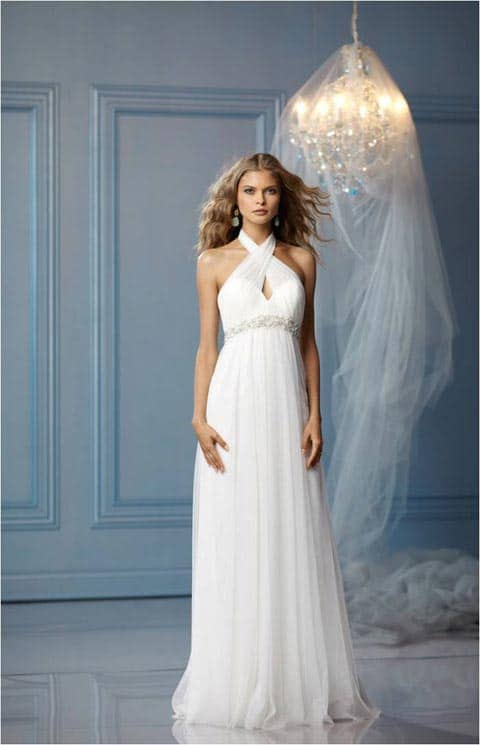 Chiffon WTOO casual beach wedding dresses